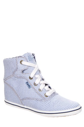 Keds Rookie Wedge Chambray Stripe Sneaker