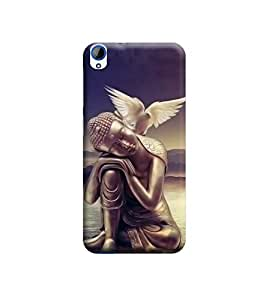 Ebby Premium Printed Back Case Cover With Full protection For HTC Desire 820 (Designer Case)