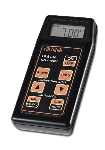 Hanna Instruments HI 8424 Waterproof pH Meter w/Automatic Calibration and Temperature Compensation