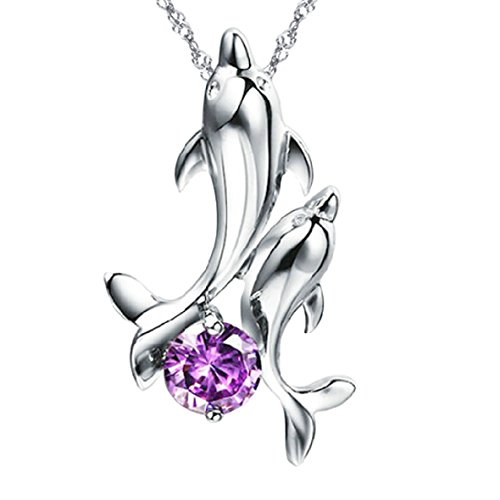 dancing-dolphins-purple-sterling-silver-pendant-necklace