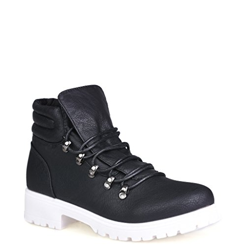 Twisted Women's Timmy High-Top Faux Leather Lace-Up Comfort Fashion Work