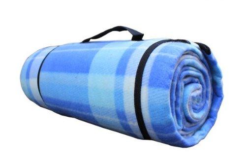 Hewolf Thick Flocking Outdoor Multi-Function Folding Aluminium Film Dampproof Sleeping Mat For Camping /Picnic Mat /Beach Mat (Blue)