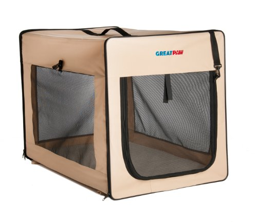 Great Paw Chateau Soft Dog Crate, Medium