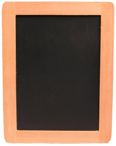 Creative Hobbies Synthetic Chalkboard With Unfinished Wood Frame, 5 x 7 Inch, Pack of 6 Chalkboards