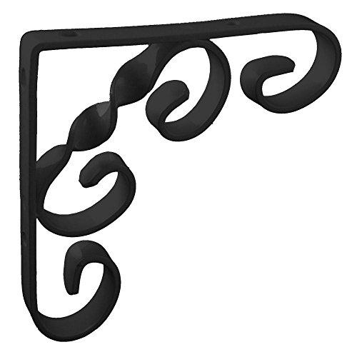 100mm-4-x-4-no244-ornamental-scroll-shelf-brackets-1-each-black-finish