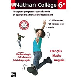 Nathan collège 6ième - Français/Maths/Anglais - PC/MAC - Neuf VF