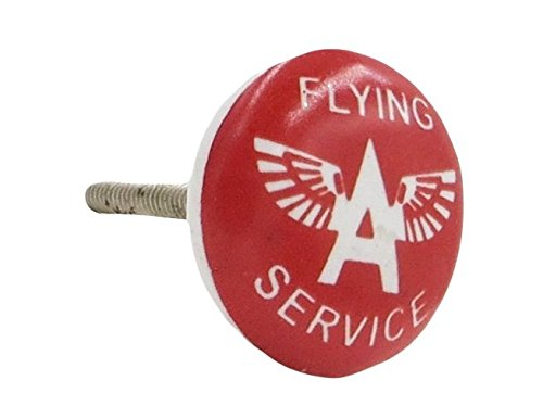 Flying A Service Airplane Airline Knob Pull for Drawers, Doors, Dressers (Airplane Dresser Knobs compare prices)
