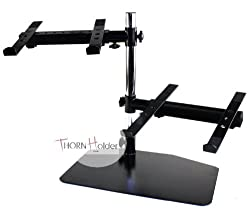 Double DJ PA Mixer Laptop CD Player Studio Gear Rack Mount Stand Computer PC Table Top Work Station PA Thorn Holder from Thorn Holder