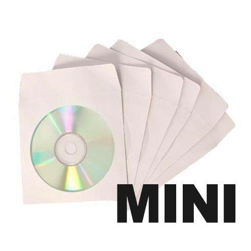 100 mini paper cd sleeves with window flap office for 100 paper cd sleeves with window flap