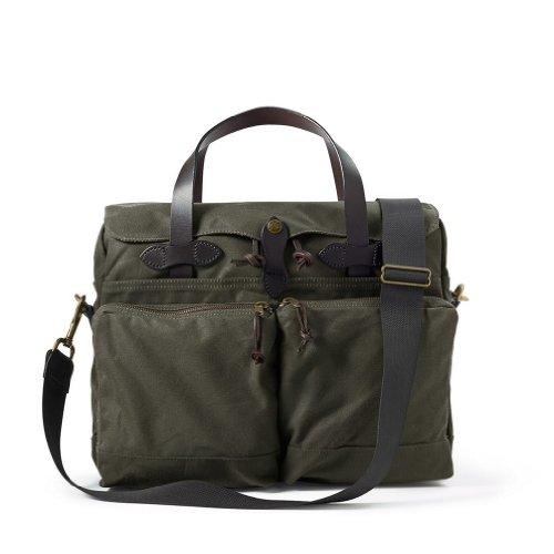 Filson 24 Hour Tin Cloth Briefcase Otter Green, 70140341135
