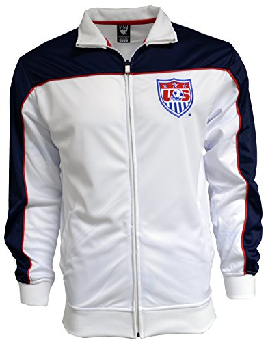 USA Jacket Track Soccer Blue New Season Adult Sizes U.S. Soccer Football Official Merchandise (XL) (Us Soccer Merchandise compare prices)