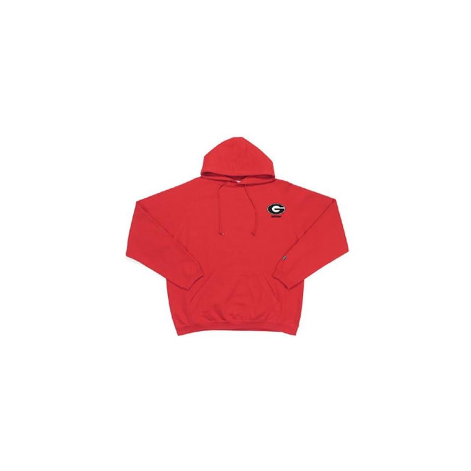 Georgia Bulldogs NCAA Goalie Hooded Sweatshirt (Dark Red) (Small)