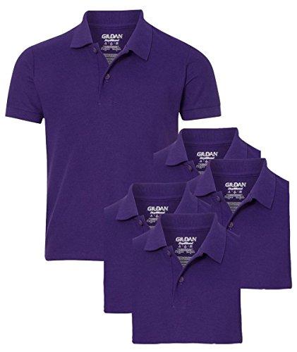 Gildan youth school uniform pack of 5 pique polo sport for Purple polo uniform shirts