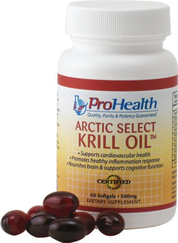 Arctic Select Krill Oil (Superba Krill Oil) (500 Mg, 60 Softgels) By Prohealth