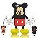 I Need's Cartoon Mouse Die-cut Silicone Cover for Iphone 5 - Male