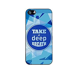 Vibhar printed case back cover for Apple iPhone 5 Deep
