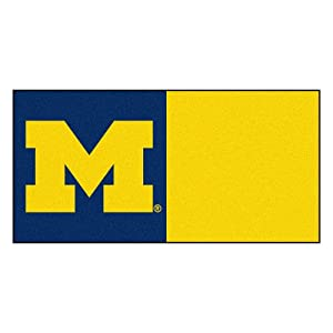 FANMATS NCAA University of Michigan Wolverines Nylon Face Team Carpet Tiles by Fanmats