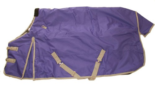 1200D Heavy Weight Waterproof Horse Turnout Blanket Purple, 72