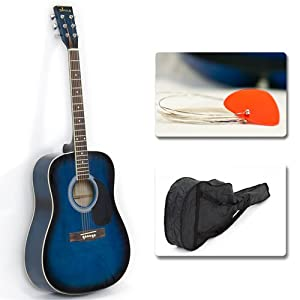 "Acoustic Guitar 41"" Full Size Natural Includes Guitar Case, Strap and More by Best Choice Products"