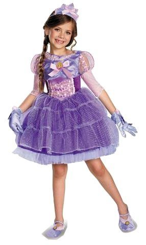 Disney Tangled Princess Rapunzel Deluxe Costume Tutu Dress 7 8 M