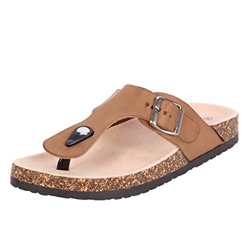 Coshare Women's Fashion Birkenstock-style Soft Footbed Cork Sandals