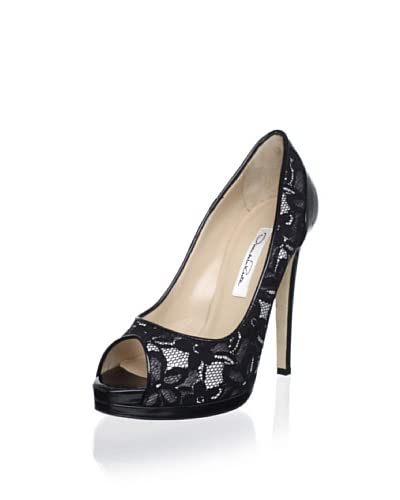 Oscar de la Renta Women's Vergine Peep-Toe Pump