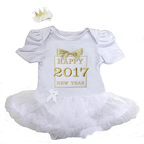 Kirei Sui Baby Happy 2017 New Year Gift Box Bodysuit Small White