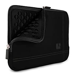 SumacLife Bubble Padded Laptop Sleeve for VAIO Z Canvas 12.3 inch Laptop / Tablet, Dark Knight Black