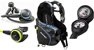 New Oceanic Price Buster Scuba Diving Package with CDX5 Alpha 9 Regulator, Alpha 9... by Oceanic