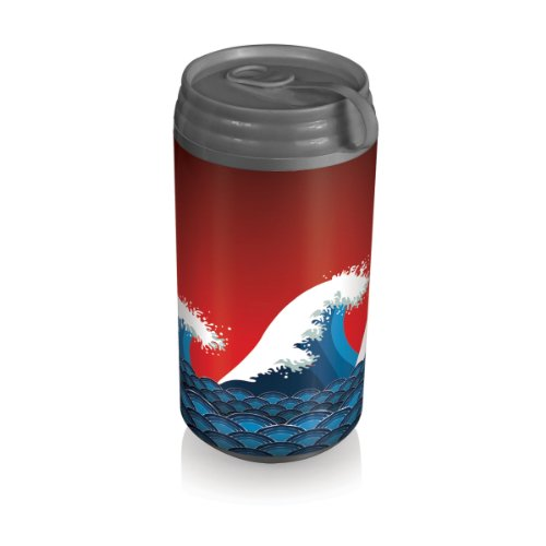 Picnic Time Insulated Micro Can Cooler, Tsunami front-620656