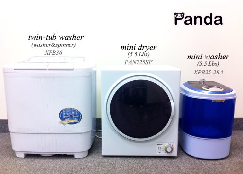 Miniature Clothes Dryer ~ Washers and dryers panda small mini stainless steel