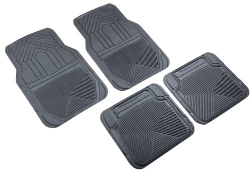 Highland 4647800 Weather Fortress Black Premium Synthetic All Weather Floor Mat - 4 Piece (2012 Chevy Camaro Floor Mats compare prices)