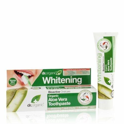 3 X 100ml Dr Organic Organic Aloe Vera Toothpaste / Whitening Anti-cavity Sooth
