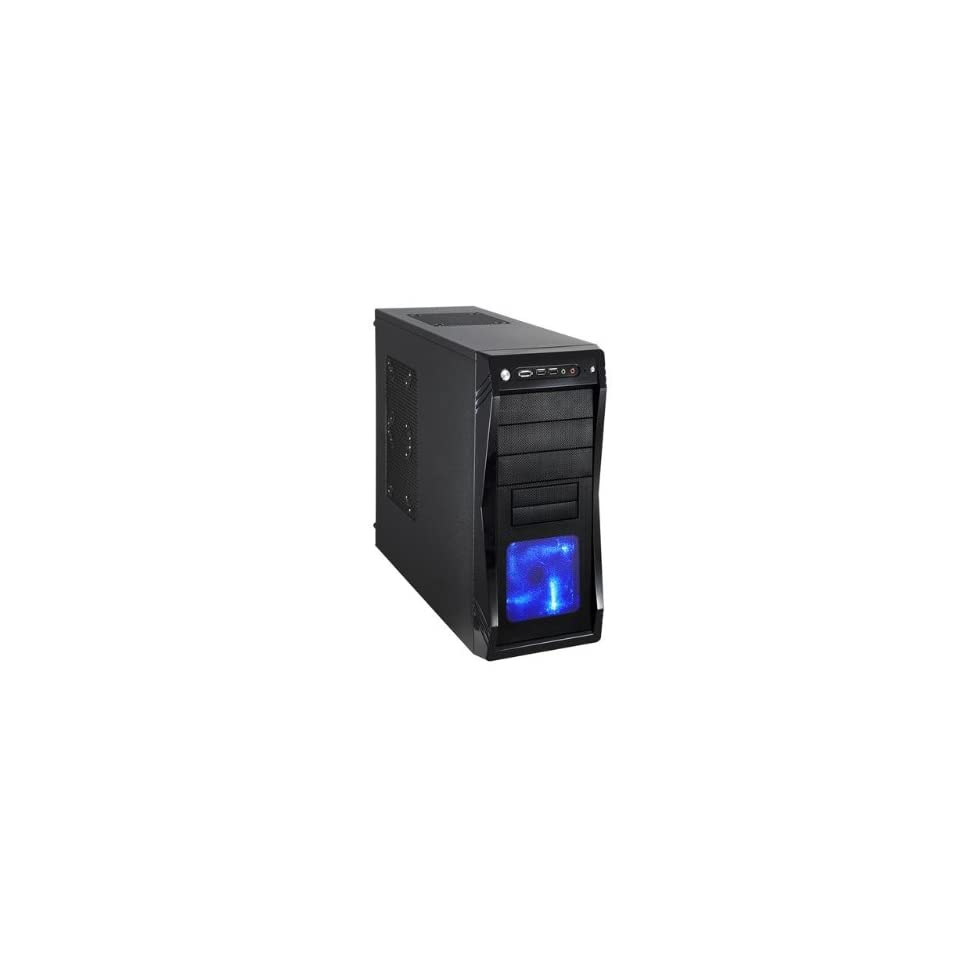 Black Gaming ATX Mid Tower Computer Case