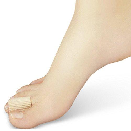 2pcs Fabric-covered Tube Bunion Toes Protector Corns Calluses Toe Separator