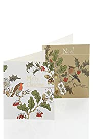 20 Bird & Foliage Charity Christmas Multipack of Cards [T21-2293M-S]|FO32