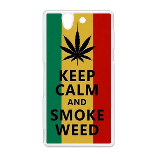 Generic Mobile Phone Cases Cover For Sony Xperia Z Case L36 Country American Flag Marijuana Cannabis Weed Hemp Leaf Smoker Design Custom Made Hard Snap On Cell Phones Shell Protect Skin