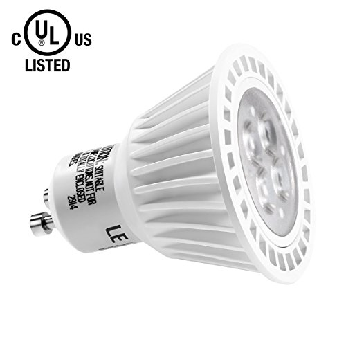 Le 6.5W Dimmable Gu10 Led Bulb, 370Lm, 50W Halogen Bulb Equivalent, Daylight White, Ul Listed
