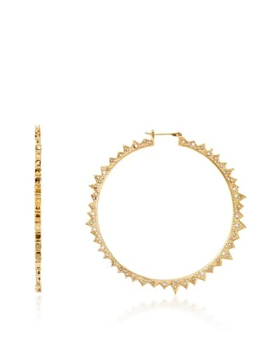 CC Skye Golden Star Burst Hoops As You See