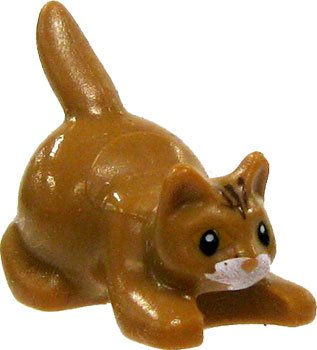 Lego Animal Mini-figure: Brown Kitten / Cat