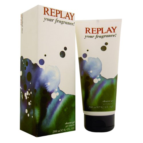 Replay Your Fragrance Gel Doccia 200ml uomo in scatola, 1er Pack (1 x 200 ml)
