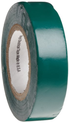 Scotch Vinyl Electrical Color Coding Tape 35, Green, 1/2