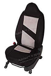 Autofact Brand Suede / Buff Velvet Car Seat Covers for Maruti Car 800 Old Model in Black and Light Grey Combination