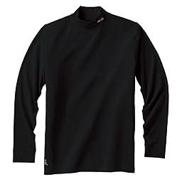 Ping Apparel Mens Performance Layering Golf Mock Turtleneck (Large, Black)
