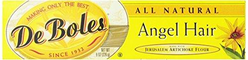 DeBoles Angel Hair Pasta, 8 Ounce (Pack of 12) (Jerusalem Artichoke Pasta compare prices)