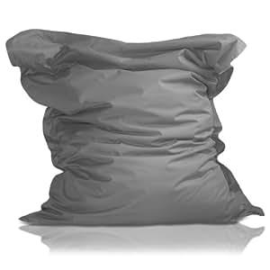 Lumaland Luxury Riesensitzsack XXL Sitzsack 380l Füllung 140 x 180 cm Indoor Outdoor verschiedene Farben Grau