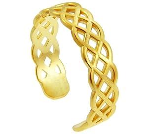 Amazon.com: 10k Yellow Gold Trinity Knot Celtic Toe Ring: Toe Rings