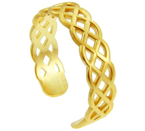 Yellow Gold Trinity Knot Toe Ring (14K Gold)