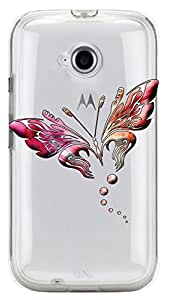 WOW Transparent Printed Back Cover Case For Motorola Moto E 2nd Gen
