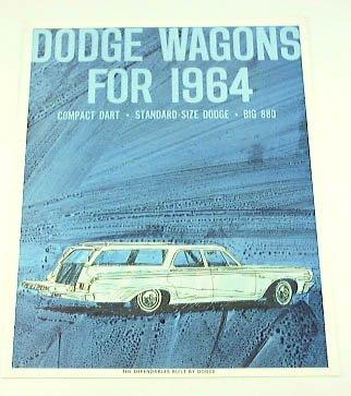 1964 64 Dodge Station Wagon Brochure Dart 880 440 330